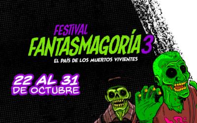 Festival Fantasmagoría 3: El país de los muertos vivientes. Este 2021 regresa el cine de género a las salas de la ciudad.